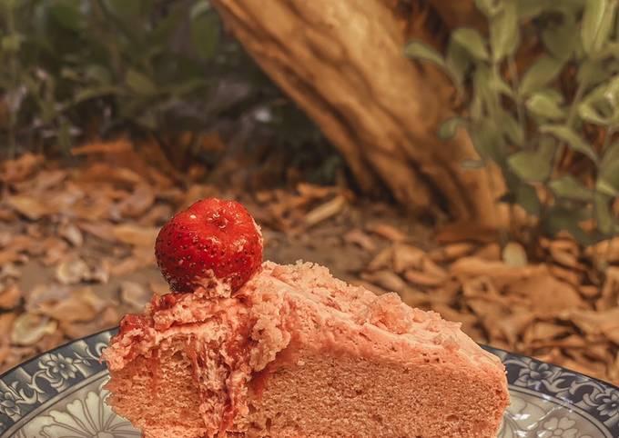 Tutorial Of Delicious Strawberry Cake Delicious