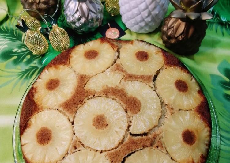 Comment faire Faire Délicieux 🍍Gâteau au yaourt et à l'ananas caramélisé