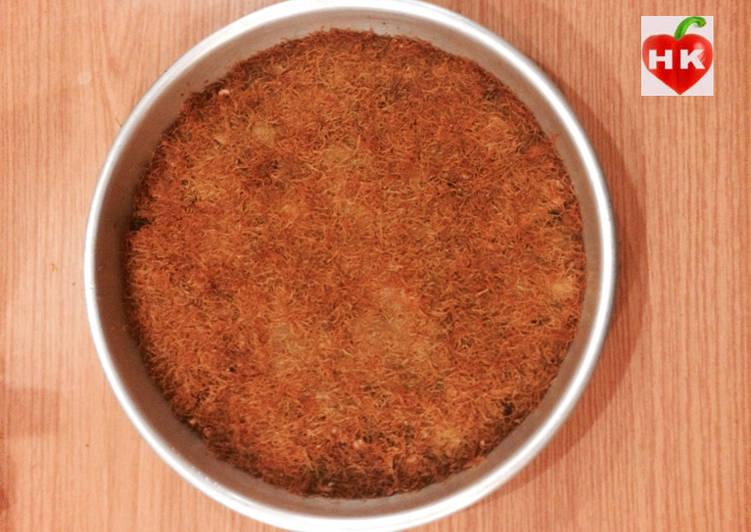 طريقة عمل الكنافة المصرية بالمكسرات بالصور من مطبخ حمودي Hamoudi Mutfagi كوكباد