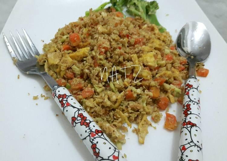 Cara membuat DIET MAYO NAT 1 ~ Nasi Goreng Cauliflower