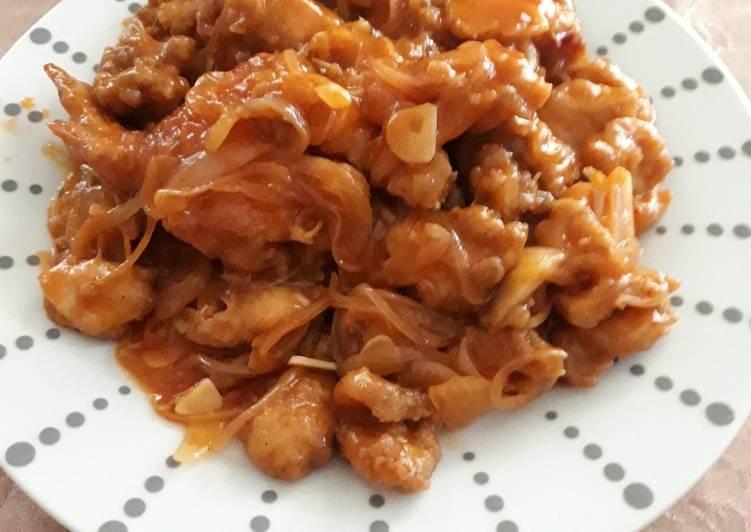 Ayam crispy asem manis#BikinRamadhanBerkesan😊