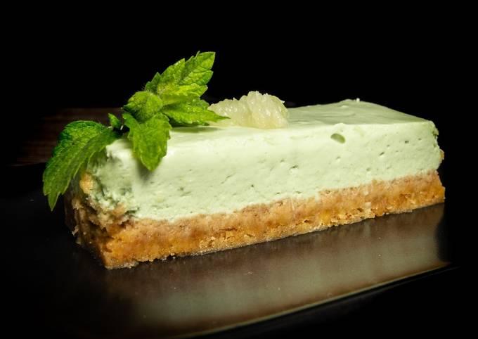 Cheesecake menthe et citron vert