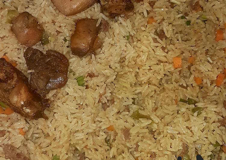 Dirty coconut rice