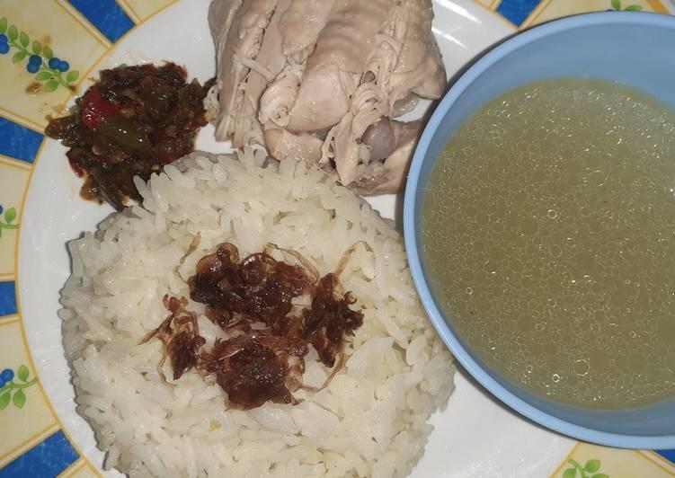 54. Nasi + Ayam Hainan (Authentic)