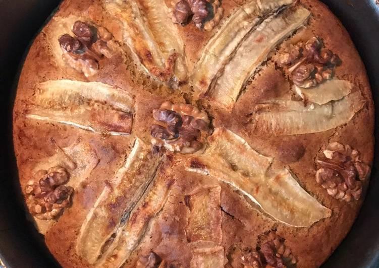 Banana Walnut Whole Wheat Cake