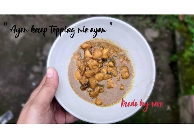 Ayam kecap (TOPPING MIE AYAM)