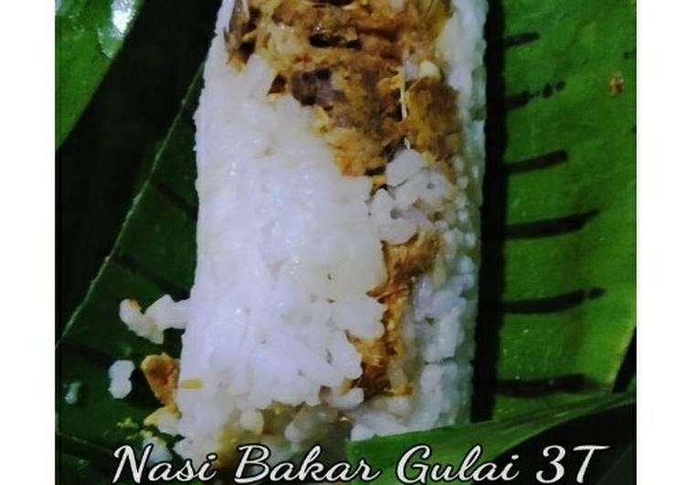 Nasi Bakar Gulai 3T (Telur, Tempe, Tuna)
