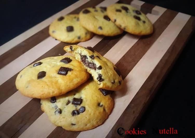Recette Savoureux Cookies cœur nutella