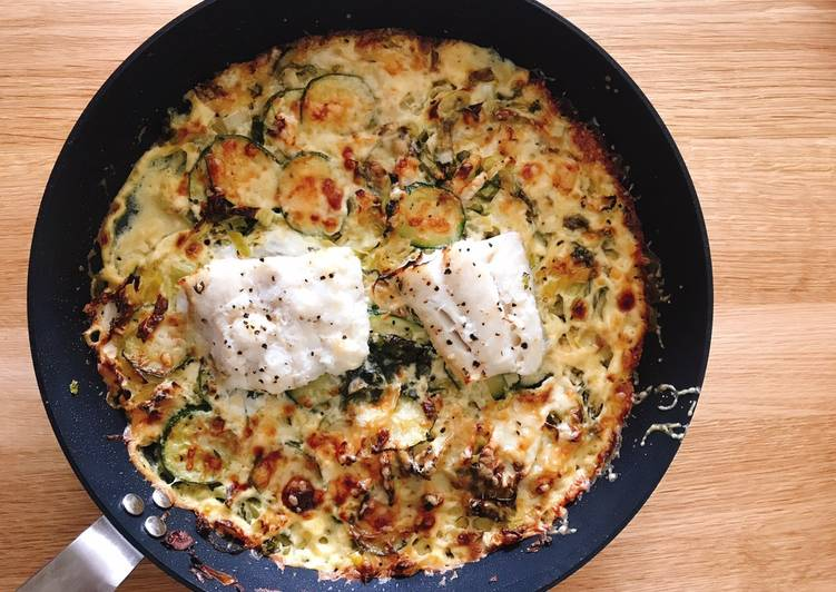 Steps to Prepare Award-winning Creamy vegetables and cod filet