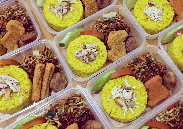 Perkedel Kentang dan Kornet 💛(pelengkap bento nasi kuning)