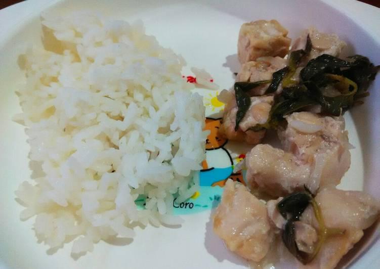 Day. 166 Pepes Ayam Tempe Kemangi (11 month+)