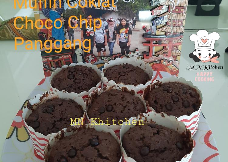 Muffin Coklat Choco Chip Panggang