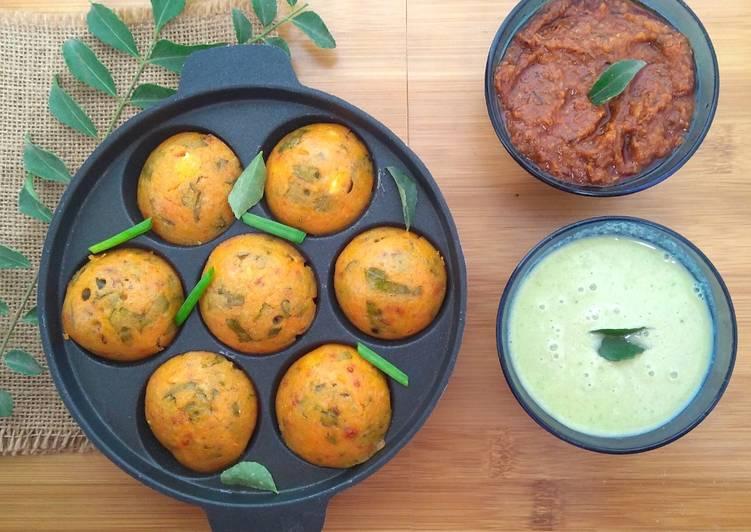 Mixed Vegetables Masala Appam