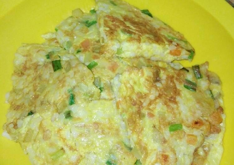 Resep Vegetables Rice Omelette Yang Mudah Bikin Nagih