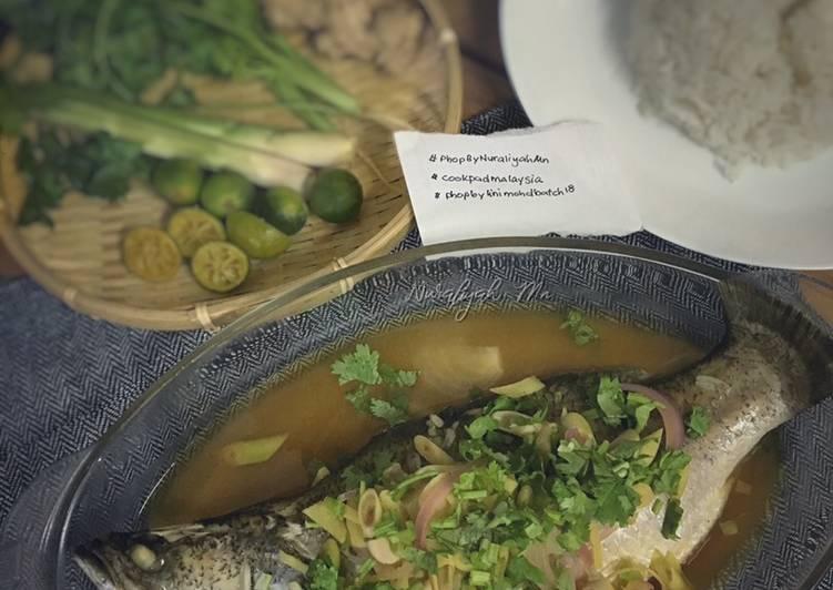 Resepi:  Ikan Siakap Stim Limau Mudah #phopbylinimohd #batch18 Simple