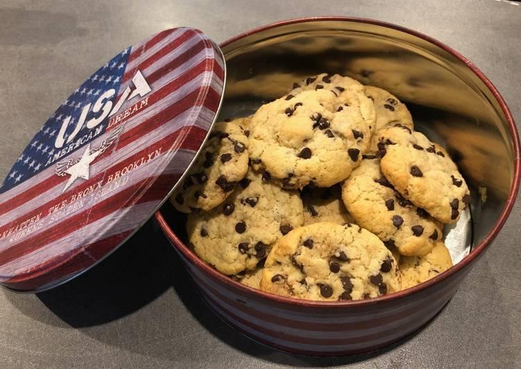 Recette Délicieux Cookies au chocolat et à la noix de coco