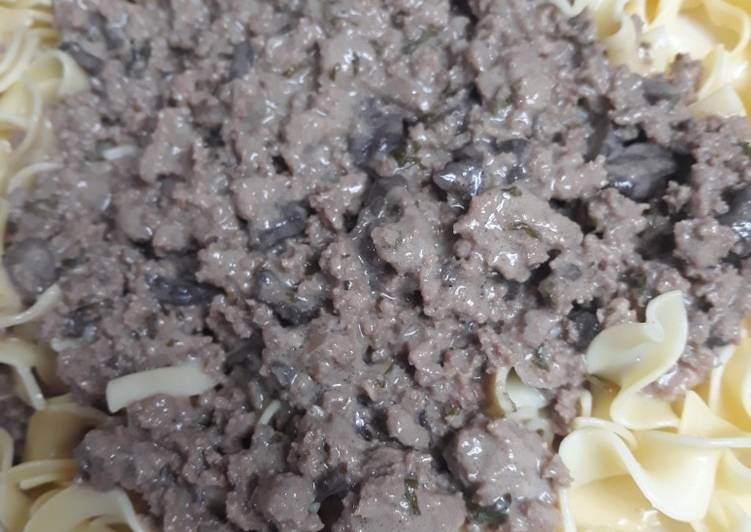 Steps to Make Homemade Stroganoff, my way