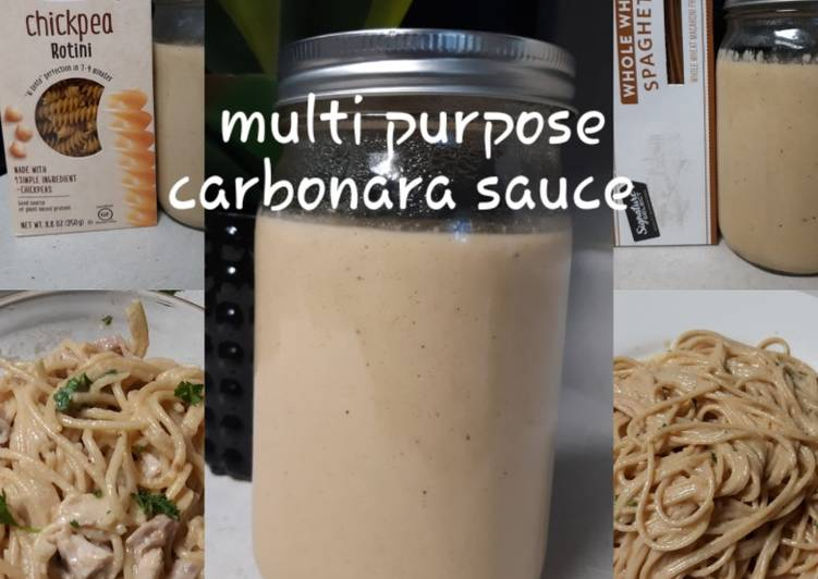 Recipe: Delicious Vegan Smokey Carbonara Sauce