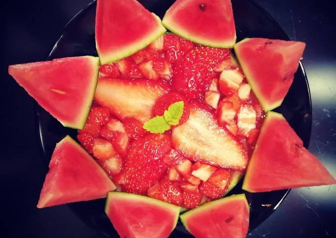Tartelette healthy Fraise🍓🍉Pastèque