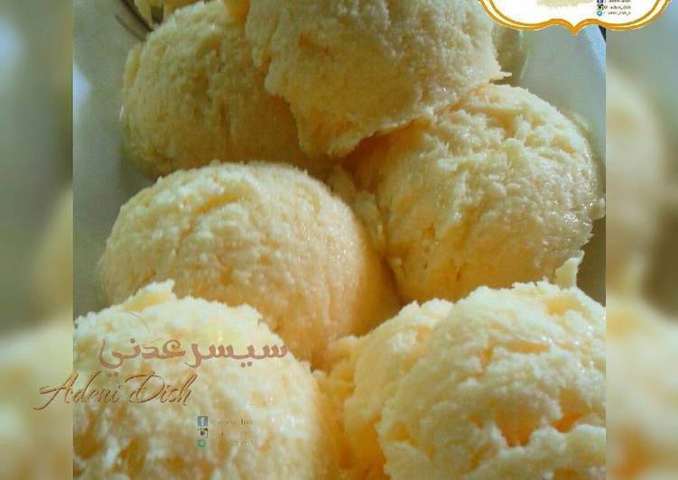 Homemade ice-cream