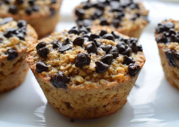 Recipe of Super Quick Homemade Baked Banana Oatmeal Muffin Cups