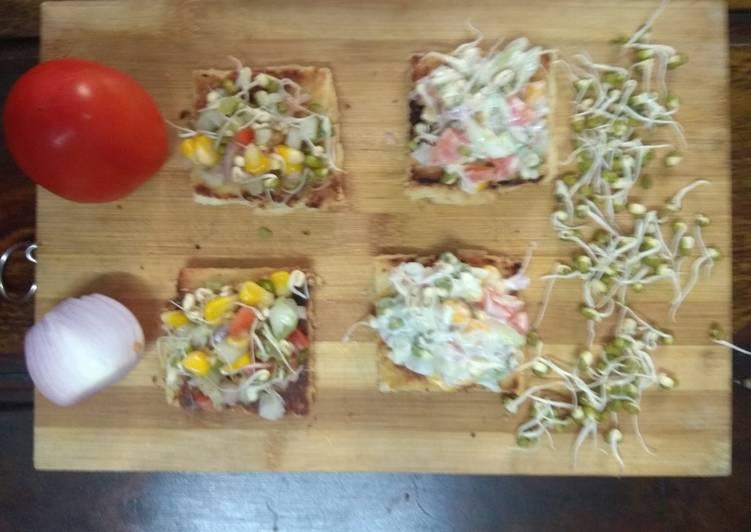 Healthy Recipe: Delicious Healthy Moong sprouts canapes