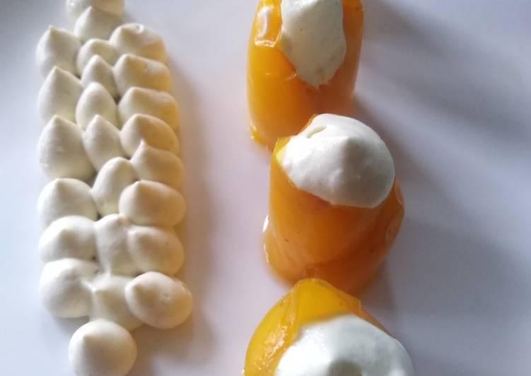 Poivrons jaunes à la crème de moutarde