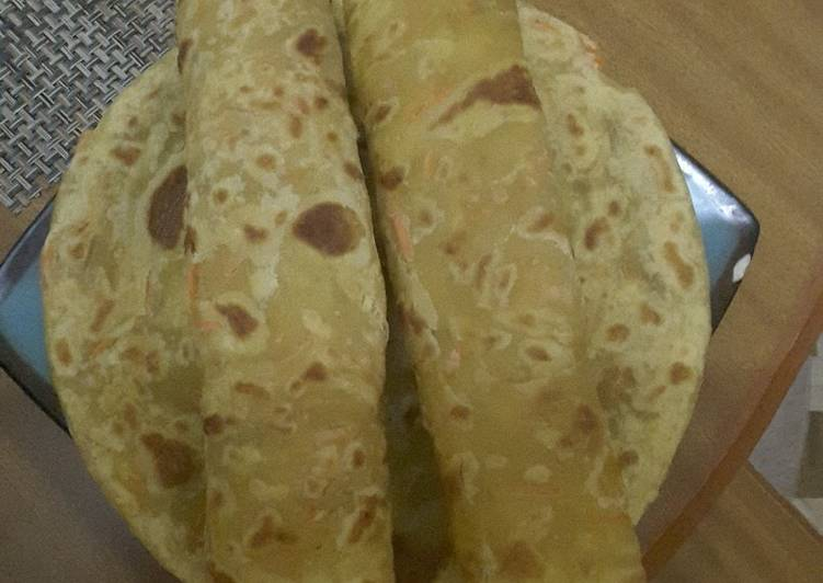 How to Make Any-night-of-the-week Easy Pumpkin and Carrot Chapati #themechallenge