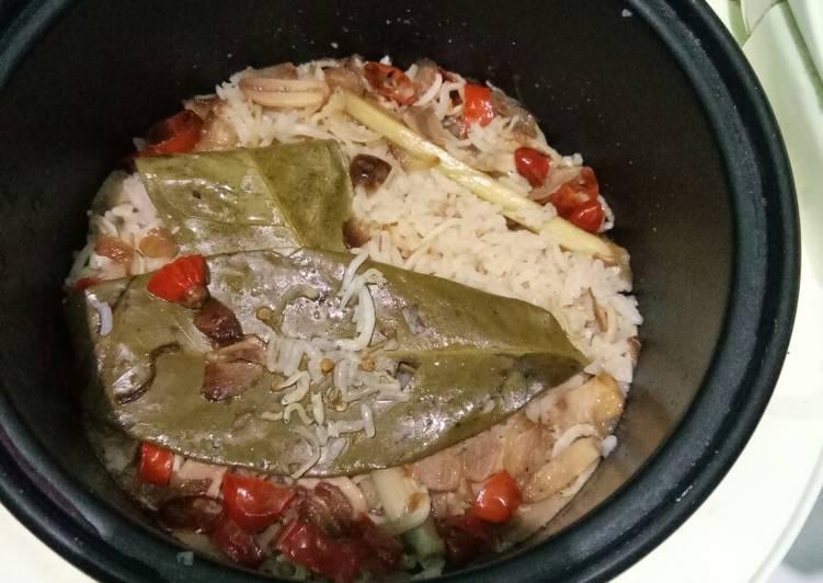 Nasi liwet pedas rice cooker