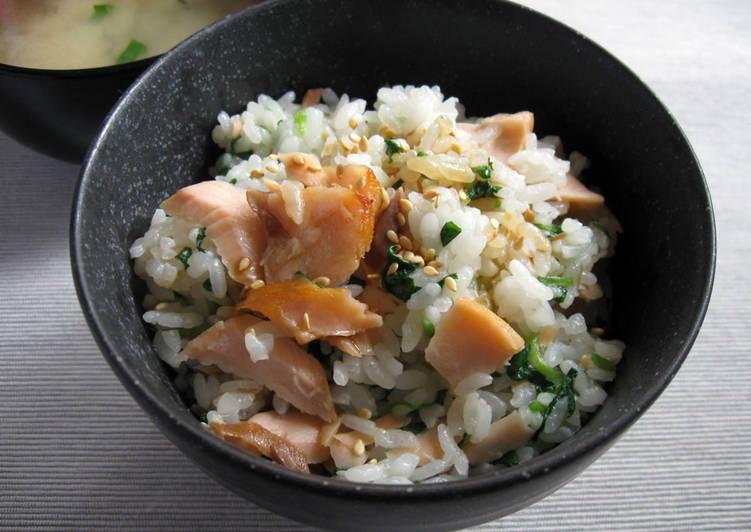 Grilled Salmon & Watercress Mazegohan