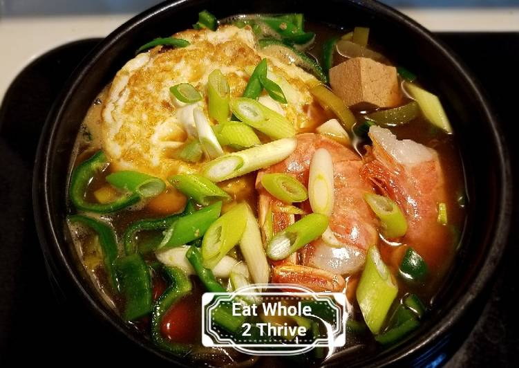 Duenjang soup (seafood version) 大酱汤, Finding Nutritious Fast Food