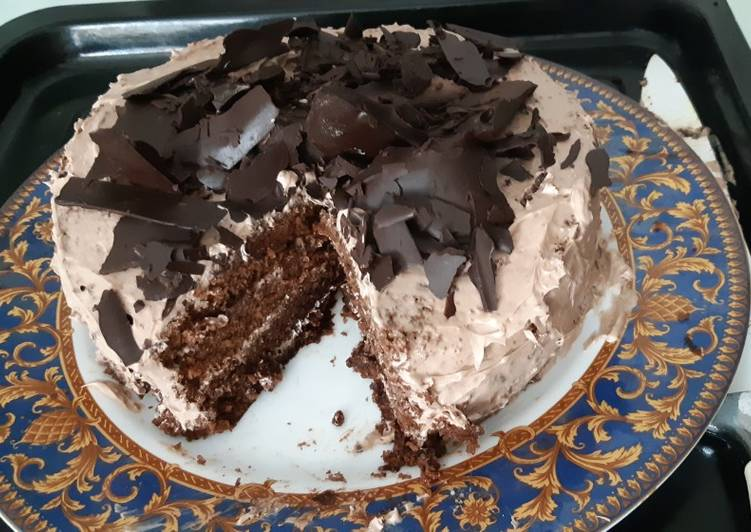 Dark Coffee Forest Cake (no alkohol)