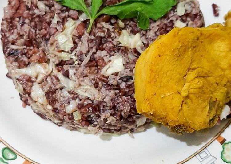 Nasi Merah Telur ala Korea|menu diet