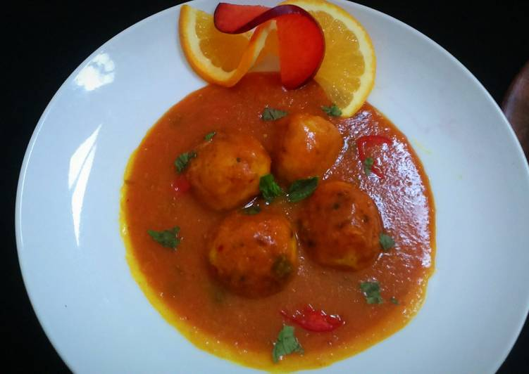 Recipe of Super Quick Homemade Sweet and Sour Kofta Curry