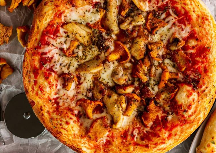 Пицца с лисичками🍕 - пошаговый рецепт с фото. Автор рецепта True  Morkvu🏃♂️ . - Cookpad