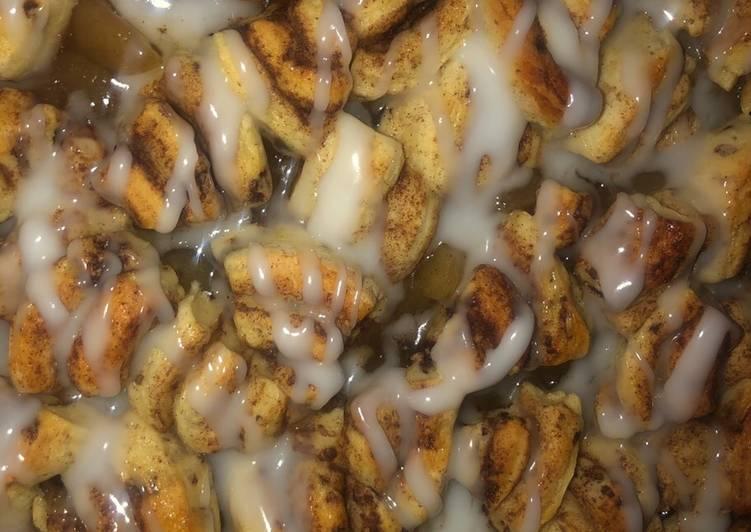 Steps to Prepare Super Quick Homemade Cinnamon roll apple pie breakfast casserole 🍎 SUPER EASY