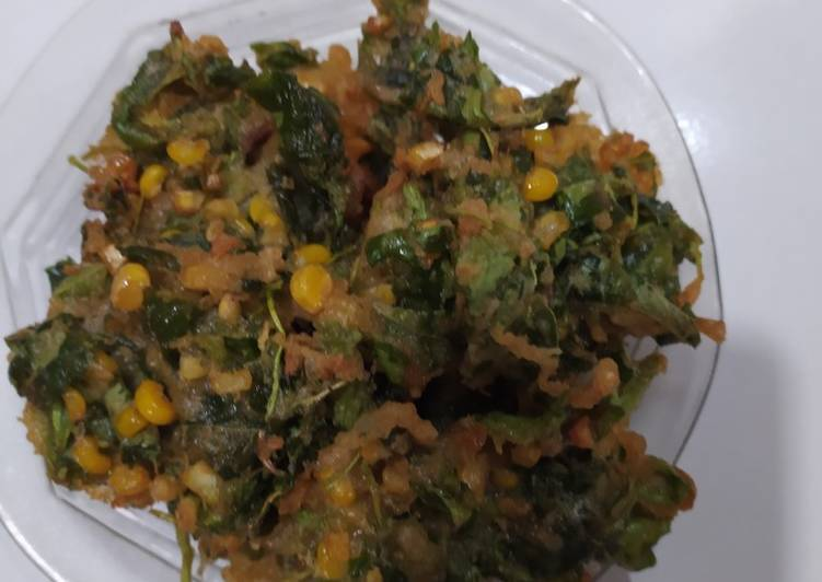 Bakwan bayam jagung crispy