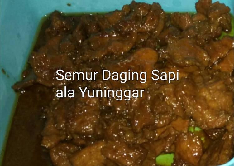 Semur Daging Sapi ala Yuninggar