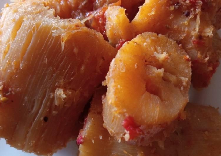 Fried Coconut Cassava