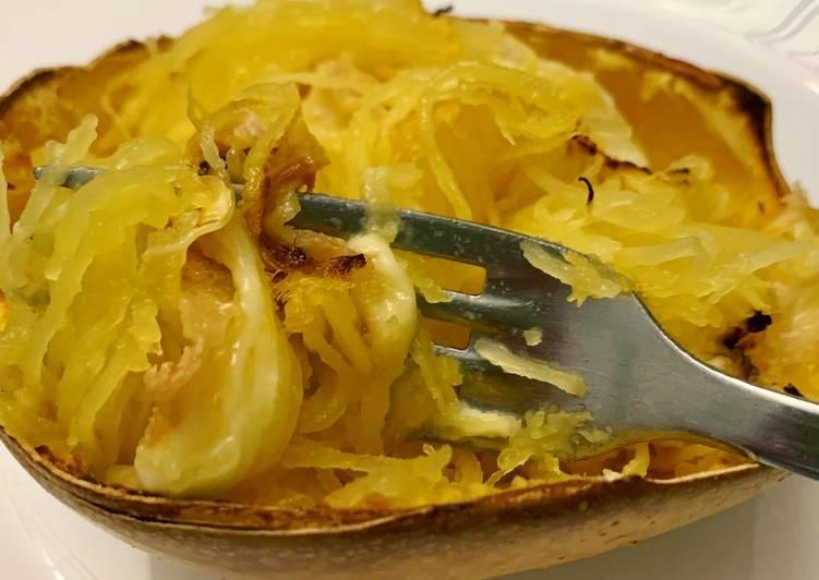 Recette Appétissante Courge spaghetti gratinée au fromage