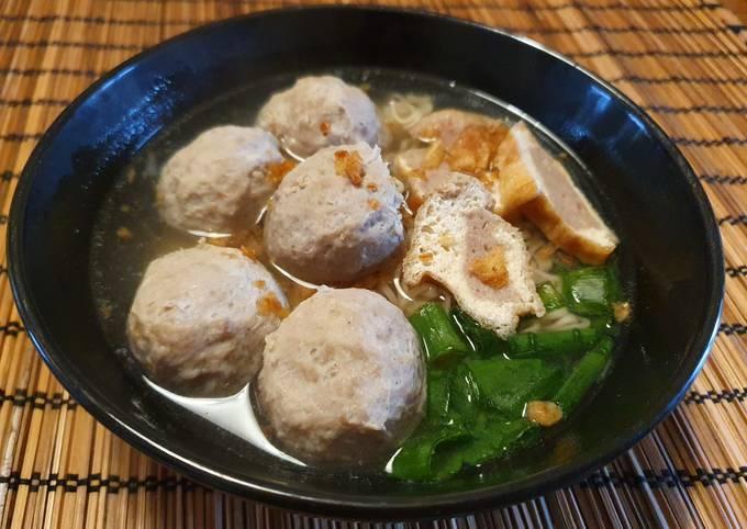 Resep Bakso Kenyal Daging Sapi mix Ayam Tanpa Tepung Anti Gagal
