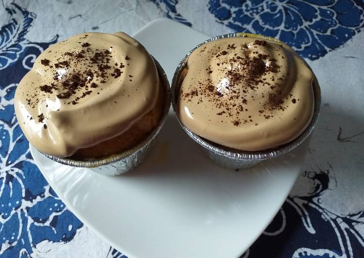 #7 Puding Roti topping Dalgona Coffee