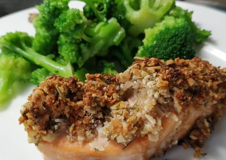 Recipe of Any-night-of-the-week Salmon with a Pistachio Coating