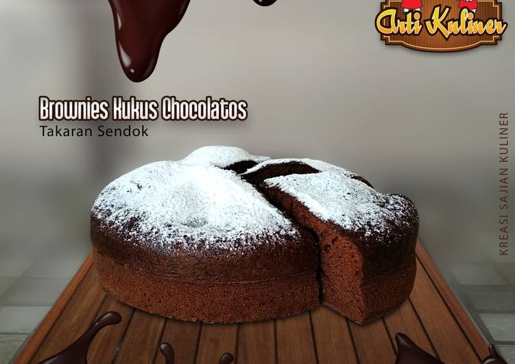 Brownis kukus chocolatos takaran sendok