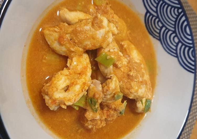 Sup ayam pedas tanpa minyak, santan, gula, tepung