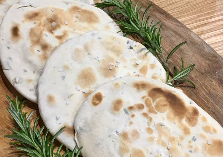 Recipe of Award-winning Garlic & Rosemary Flatbreads