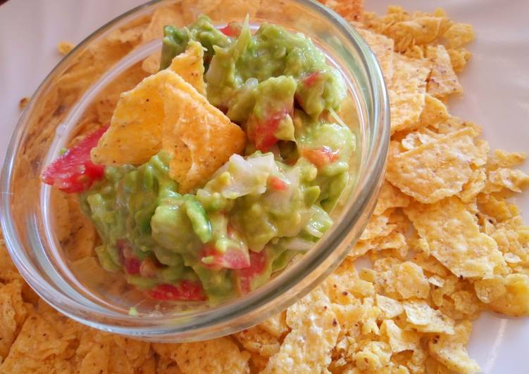 Tortilla Chips with a Guacamole Dip