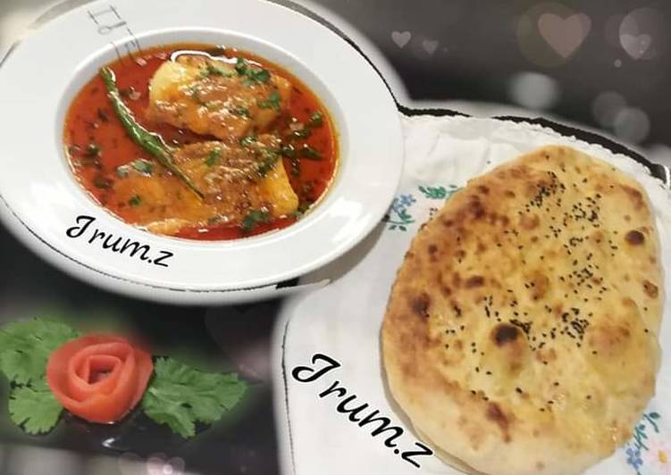 30 Minute Easiest Way to Make Quick 🐟🍲🌮Fish Curry with Homemade Naan🌮🍲🐟