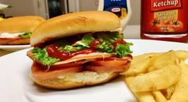 Hình ảnh món Hamburger for breakfast