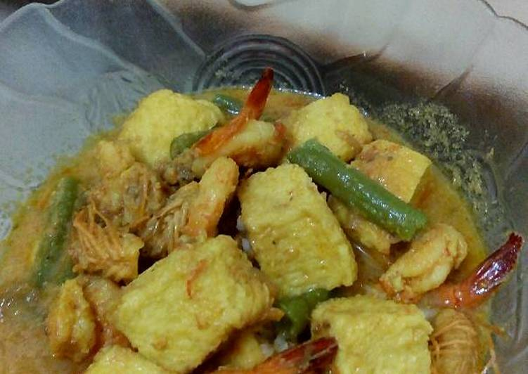 Udang Tofu Masak Kuning